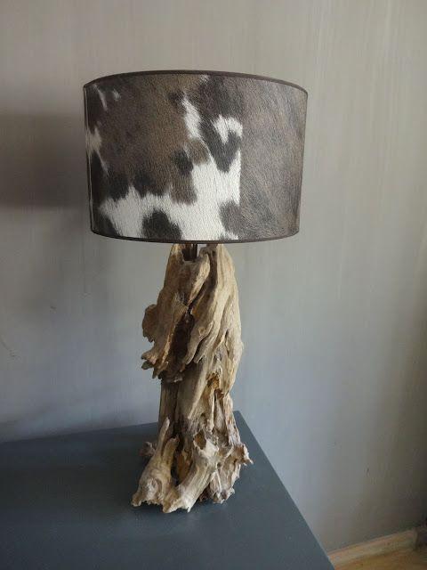 Houten voet zelf maken door drijfhout om de voet aan elkaar te plakken lampen pinterest - Houten drie voet lamp ...