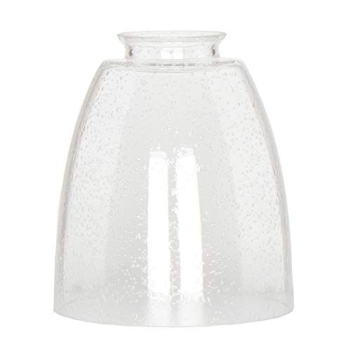Clear Bubble Glass Shade Xiding Oval Cone Seeded Glass Shade Replacement Classic Style High Glass Light Fixture Glass Pendant Shades Replacement Glass Shades Replacement chandelier glass shade