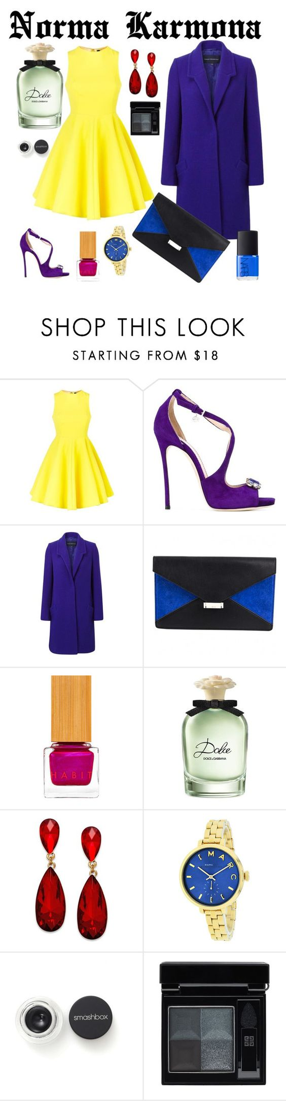 """Norma Karmona"" by normacarmona on Polyvore featuring moda, AQ/AQ, Dsquared2, French Connection, Habit Cosmetics, Dolce&Gabbana, Style & Co., Marc Jacobs, Smashbox y Givenchy"