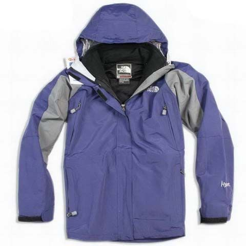 Womens The North Face Hyvent Jacket Waterproof Indigo Violet