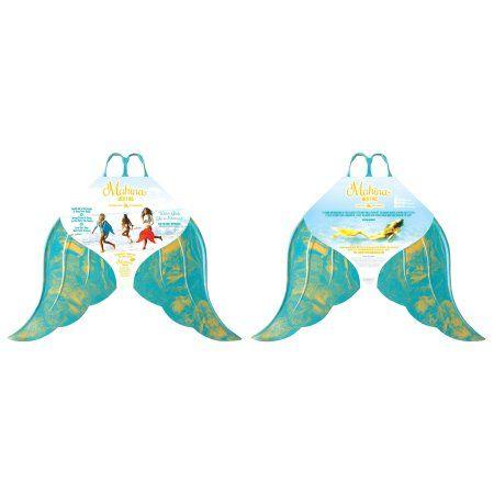 Mahina Mermaid MerFin Adult Classic Swimming Fin, Adult Medium, Aqua, Blue