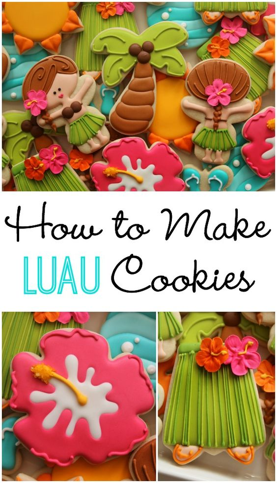 Hula girl cookies with a Wilton snowman cookie cutter!