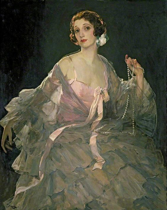Sir John Lavery -- Appears to be his wife, Hazel, once again.: