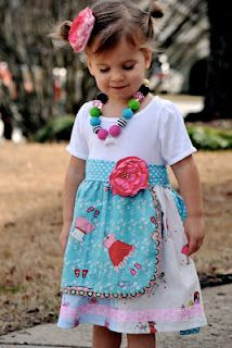 this happy dress is going to be in the auction for ashley from lil blue boo!