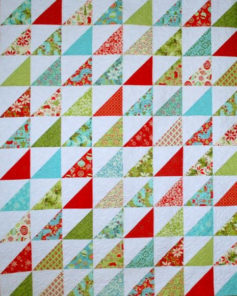 Half Square Triangle Quilt Tutorial Made With Layer Cakes