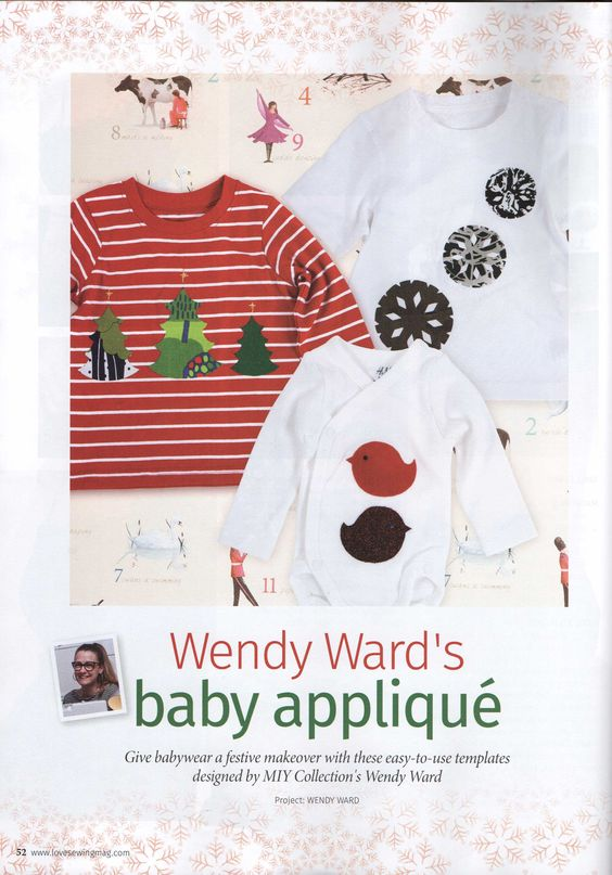 Use my templates for quick & easy festive appliqué ideas in December's Love Sewing (issue 8). http://wendyward.wordpress.com/2014/12/10/two-new-projects-in-this-months-love-sewing-magazine/