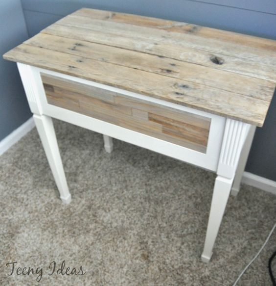 Sewing Machine with Pallet top. Paint Stirrers on front
