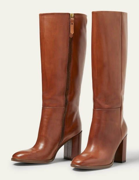 Chichester Knee High Boots - Tan