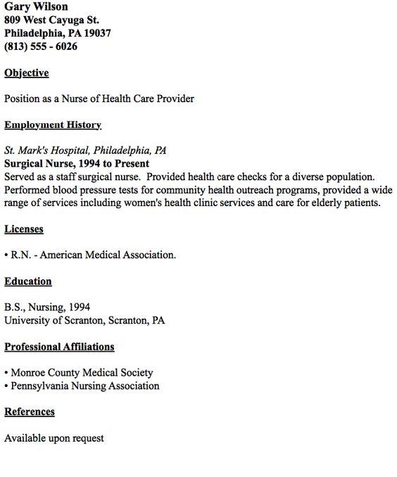 Example Of Surgical Nurse Resume -   resumesdesign/example