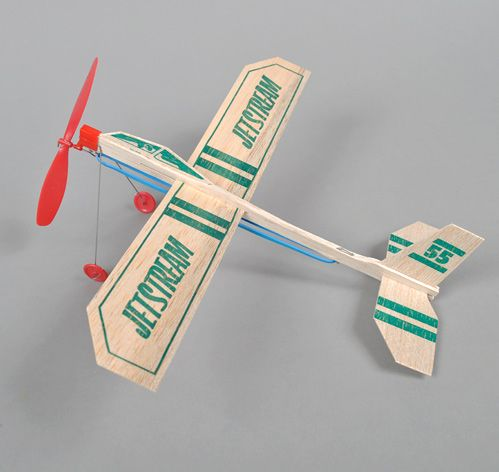 Balsa Wood Glider, powered by an elastic band...hours of fun!!