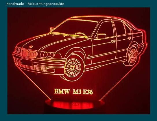 FIAT Barchetta 3D-Lampe LED