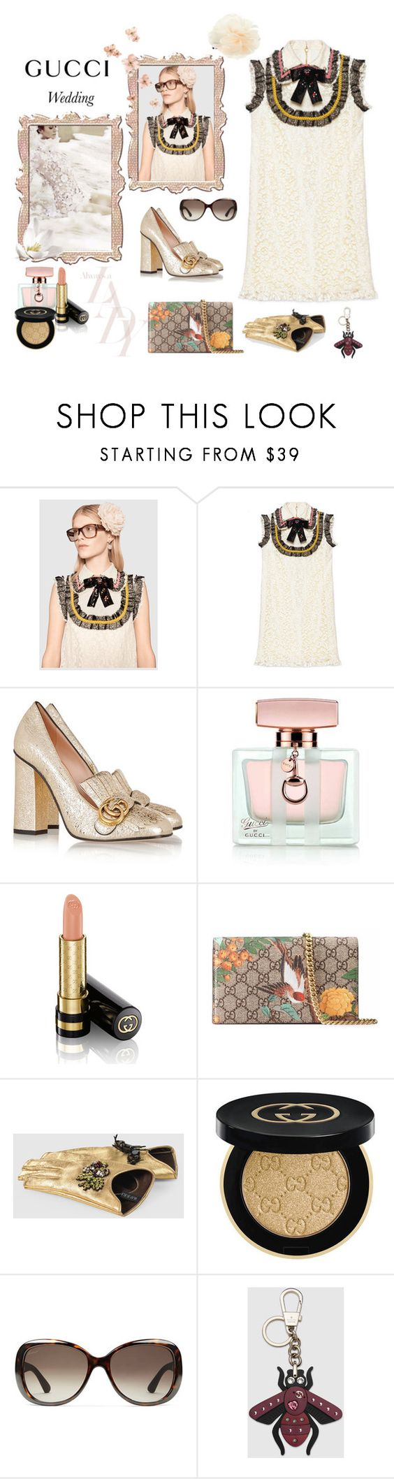 """May, wedding season kick off- the Gucci girl guest"" by juliabachmann ❤ liked on Polyvore featuring Gucci and Accessorize"
