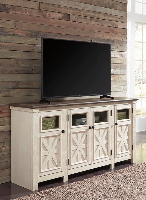 Bolanburg Two Tone Extra Large Tv Stand Large Tv Stands Family
