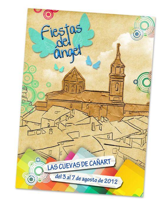 Diseño de cartel para las Fiestas del Ángel de Las Cuevas de Cañart (Teruel)