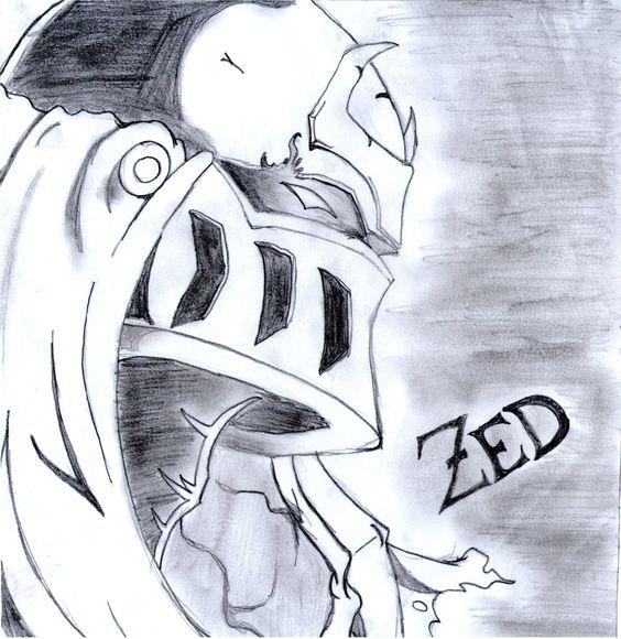 Zed- League of Legends  Dibujos  Pinterest  Legends and ...