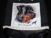 """Schultertasche """"Rottweiler"""", Hund, Unikat"""