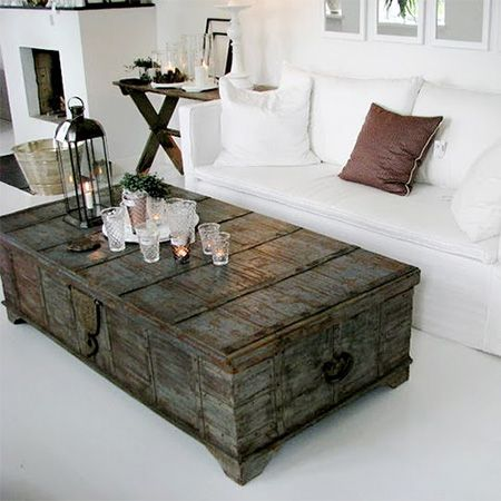 chest living room. old trunk coffee table  Design Decor Pinterest Trunk tables Coffee and Living rooms