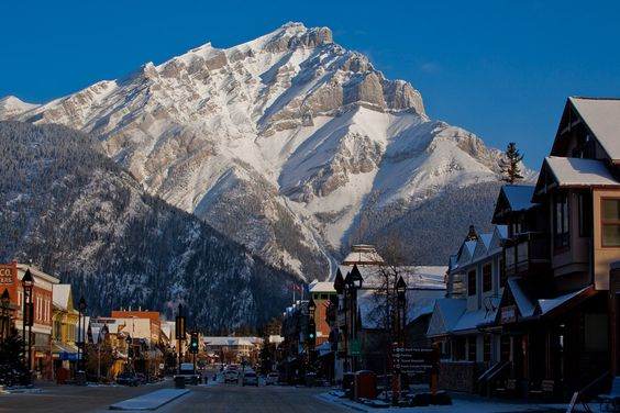 The iconic town of Banff is a perfect staging ground for skiing and ski mountaineering within the Canadian Rockies.