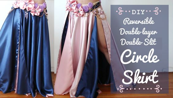 DIY Circle Skirt for dancers! [reversible & double-layer & double-slit]…