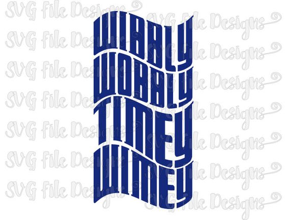 Wibbly Wobbly Timey Wimey Doctor Who Shirt Decal Cut File / Clipart in Svg, Eps, Dxf, Png, and Jpeg for Cricut & Silhouette by SVGFileDesigns on Etsy