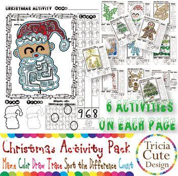 Number Names Worksheets holiday fun worksheets : Holiday Activity Worksheets! This printable PDF file contains 14 ...
