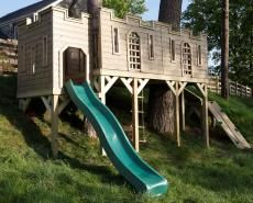 Childrens playcastle with slide