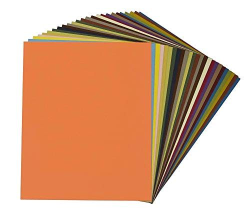Frames Pictures 8x10 Uncut Mat Boards for DIY Photos White Core Crafts Assorted Colors Pack of 25 Full Sheet Variety Pack Mat Board Center