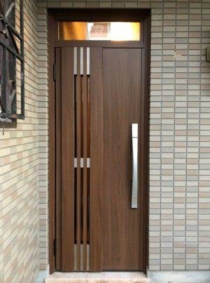 玄関ドアリフォームを兵庫で行うきたむらのビフォーアフター Door