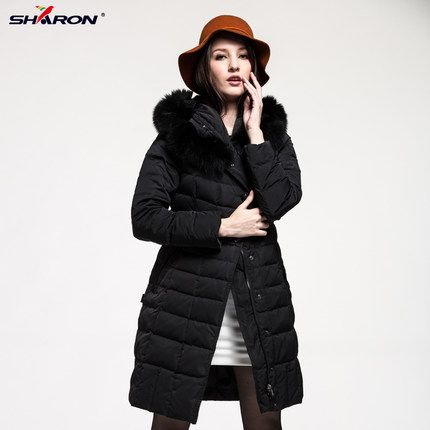 $265.00 (Buy here: http://appdeal.ru/eqft ) 2016 new hot winter Thicken Warm woman Down jacket Coat Parkas Outerwear Hooded fox Fur collar Mid long plus size 4XXXXL Luxury for just $265.00