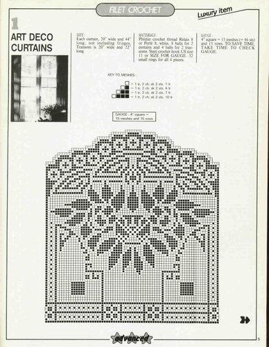 Curtains Ideas art deco curtains : art deco curtains in filet crochet | Majsans Fun crochet ...