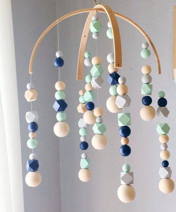 Mobile perles en silicone
