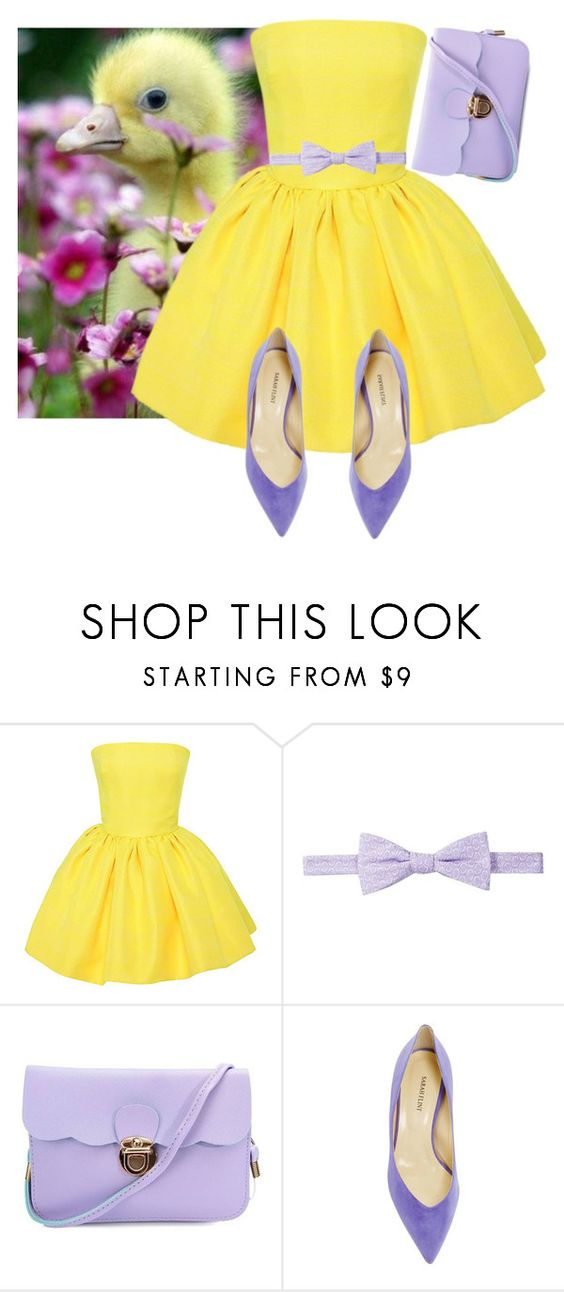 """Little duckling"" by aliroseheart ❤ liked on Polyvore featuring Martin Grant, Ben Sherman and Sarah Flint"