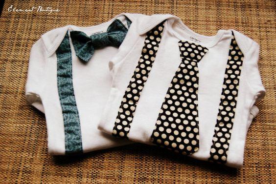 Little Gentleman Suspenders Onesie Choose your by ElementBoutique, $16.00