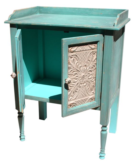 Cabinet Vintage  Teal  71x92cm by Shabby Chic Floral on THEHOME COM