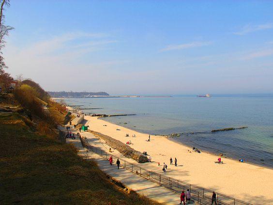 Вид на пляж в Пионерском