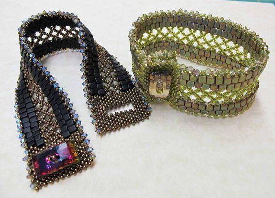New Lattice bracelet www.thatbeadlady.com