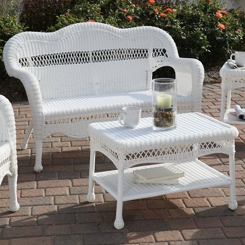 white wicker furniture white rattan