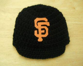 San Francisco Giants, Inspired Crocheted  Baseball newsboy hat Newborn Photo Prop