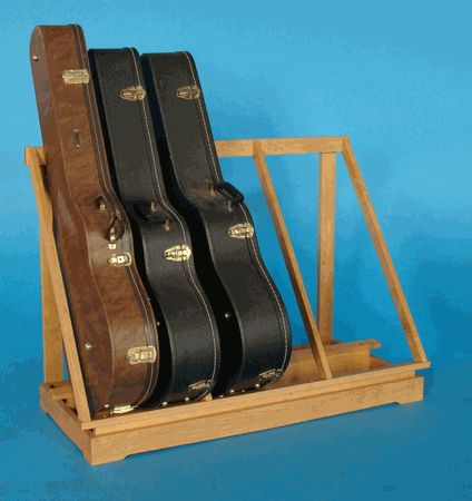 Guitar case storage racks and kind of on pinterest for Homemade rack case