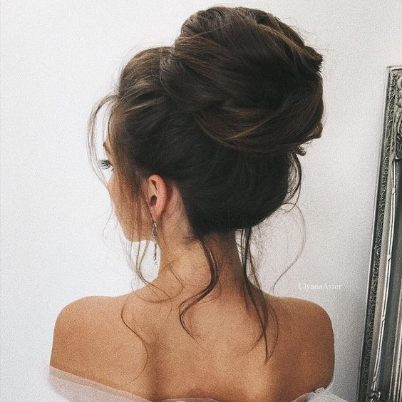 High bun bridal hairstyle Ideas