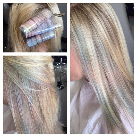 mother of pearl pastels on blonde my favorite piece of work - Coloration Blond Perle