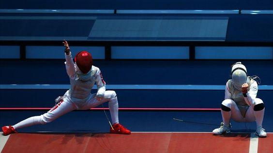 Ines Boubakri of Tunisia celebrates win