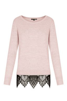 Pullover Rosa con Pizzo TALLY WEiJL