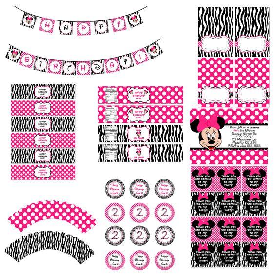 Minnie Mouse Zebra Party Pack: Mickey Minnie, Mickey Mouse Party, Minnie Party, Mickey Mouse Club, Thanksminnie Mouse, Minnie Mouse Party, Mouse Zebra, Birthday Party