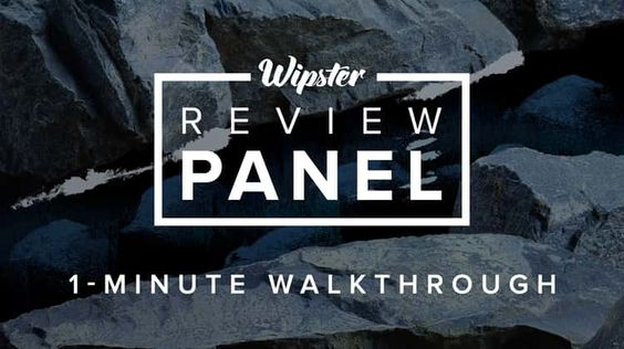 Wipster Review Panel: 1-minute walkthrough