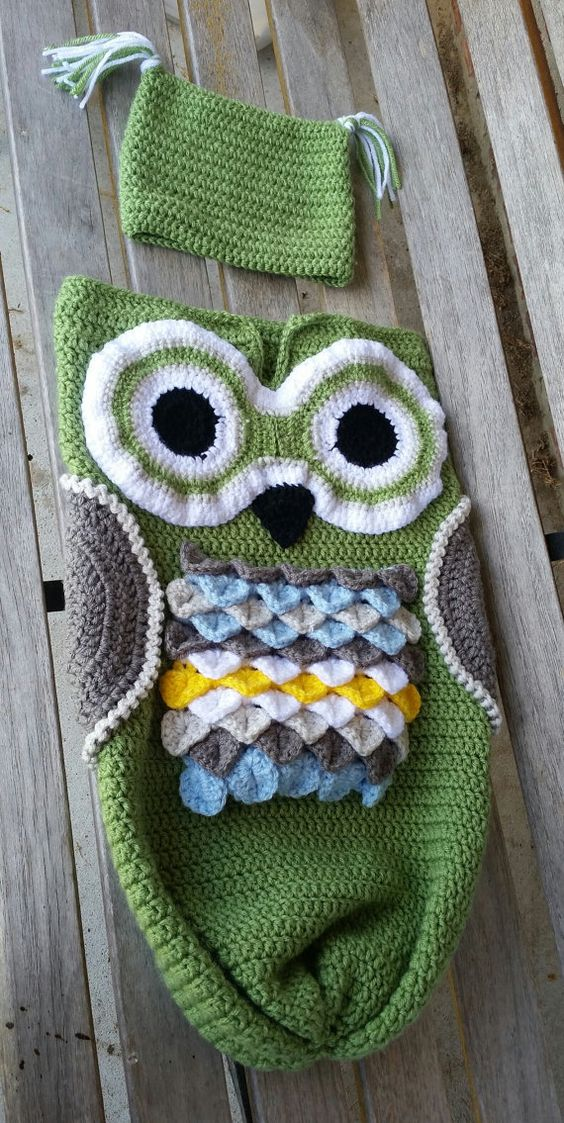 Owl Cocoon Baby Set, Blanket and Hat, Baby Sack, made to order ...