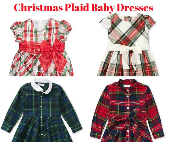 Christmas Plaid Baby Dresses