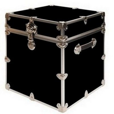 College Trunks for Students | Rhino Armor College Trunk Cube Black | FREE SHIPPING