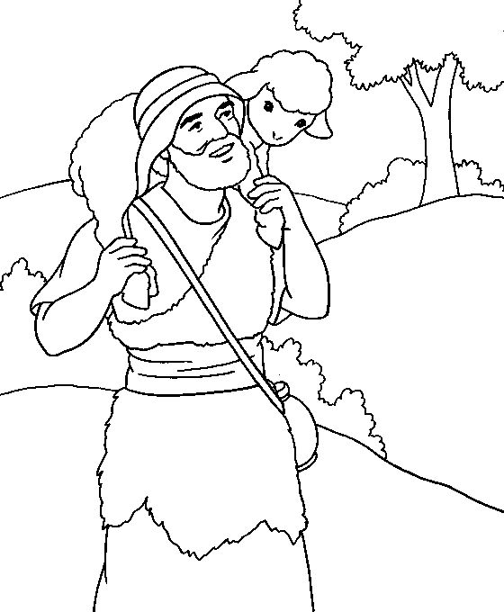 the lost sheep coloring page bible jesus and his