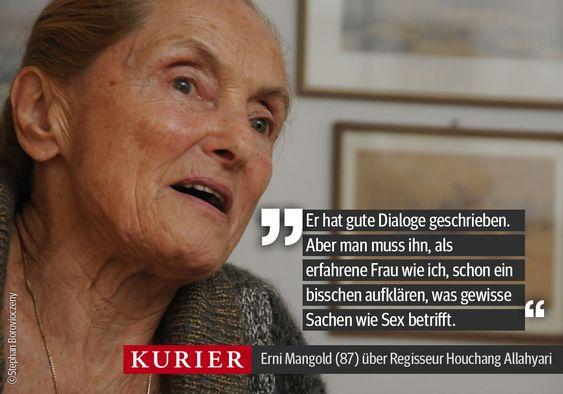 """Ernie Mangold über ihren neuen Film """"Der letzte Tanz"""". http://kurier.at/kultur/film/erni-mangold-das-muss-sehr-zart-und-behutsam-sein/69.606.187"""